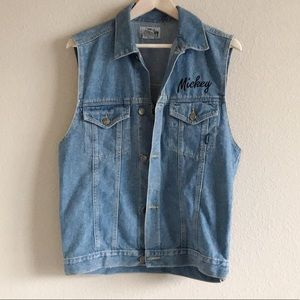 Vintage Mickey by Jerry Leigh Denim Vest
